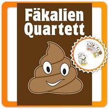 Fäkalien Quartett - Lustiges Kackspiel mit Scheiße für die Familie Scherzartikel