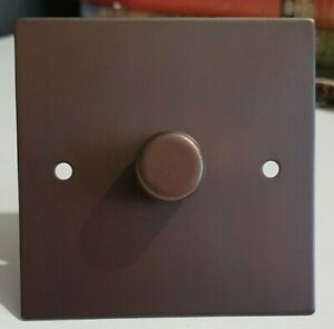FOCUS SB Ambassador Sq Corner Dimmer Switch Chocolate Brown 1G 2 Way NACB22.1