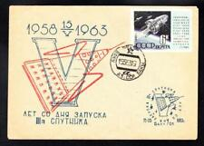 Early Space Exploration SPUTNIK 3 SPACECRAFT LAUNCH Russia Space Cover (A5630)