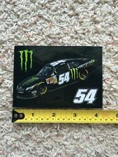 "Monster Energy Logo 4"" Sticker Decal Sponsor Sheet Kit Kyle Busch 54 Rowdy Champ"