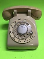 VINTAGE  Western Electric Bell System Rotary Desk Phone 1980's- No Cord- Beige