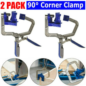 2* 90 Degree Right Angle Corner Clamp Woodworking Wood for Kreg Jig Clamps Tool