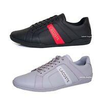 Lacoste Chaymon Club 0721 1 Men's Fashion Casual Shoes Sneakers Black Grey