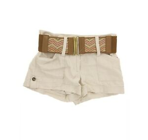 Stoosh Juniors Mini Shorts Size 3 Wide Brown Belt Khaki Beige NEW Tag  B55