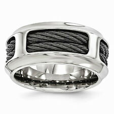 Men's Edward Mirell Titanium & Stainless Steel Cable 10.75mm Band