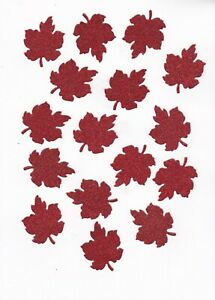 Glittered Red Leaves for Crafts