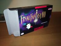 Final Fantasy III Box Only, SNES Nintendo Replacement Box/Art Case FF 3 !!