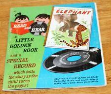 Little Golden Books: The Saggy Baggy Elephant Read & Hear Record/Book 45Rpm