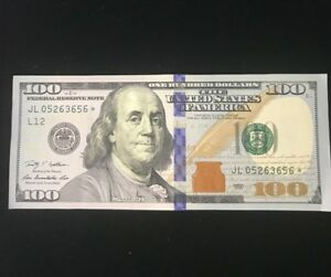 2009 $100 U.S Star Note Bills CH-UNC 2 Star Note Sequential Runs, $200 Face