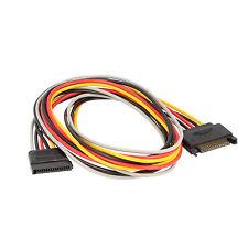 Verlängerung Kabel Adapter SATA Power Male auf SATA Power Female 100cm Länge 1:1