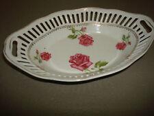Jugendstil Durchbruchteller Schale Prozellan Rosen Rosendekor
