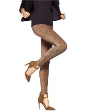 Hue U14632 Caramel Brown Animal Dot Pincord Stretch Corduroy Leggings - $44