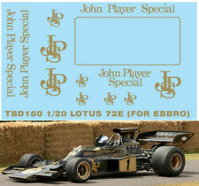 1/20 LOTUS 72E ( X EBBRO ) JPS SPONSOR DECALS DECALS TB DECAL TBD180