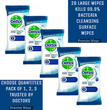 DETTOL CLEANSING SURFACE WIPES USED BINS, KITCHEN, BATHROOM, AND TOILETS