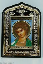 angel golden hair in golden frame icon  ангел златые власа