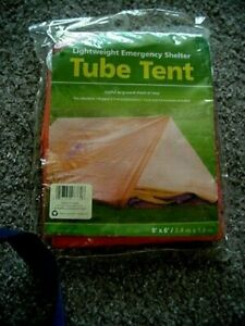 New EMERGENCY Shelter 8'X6' TUBE TENT FOR 2~FIRE RETARDANT~1 lb~RUGGED Coghlan's