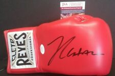 JULIO CESAR CHAVEZ Signed Autographed CLETO REYES Boxing Red Glove. WITNESS JSA
