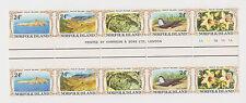 (TS15)1982 Norfolk Island 24c &35c gutter strips of10