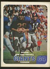 1964 NFL Football New York Giants Yearbook EXMT