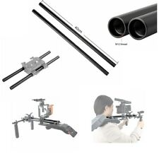 US Niceyrig 2pc  40cm 16'' 15mm Aluminum Alloy Rod For Shoulder Rig Support