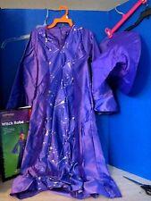 Halloween~Purple WITCH ROBE Halloween Costume~Girls Size 7-10