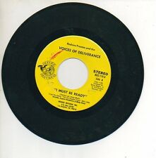 VOICES OF DELIVERANCE 45 RPM Record GET READY / I MUST BE READY Soul Funk Gospel