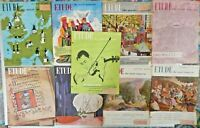 Lot of 9 Etude Magazines 1950 Issues