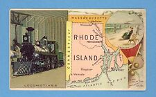Vintage Arbuckle's Ariosa Coffee Trade Card - 1889 Rhode Island State No. 94
