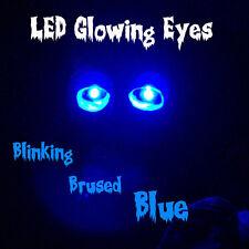 LED GLOWING EYES BLINKING HALLOWEEN BLUE 5MM 9 VOLT 9V blink flash