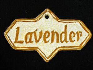 LAVENDER Herb Garden Sign, Plant Marker, Herbal Handmade Ceramic Stoneware Tile