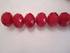 Red Velvet Cake Quartz Crystal Rondelle Beads 14mm   Loose Beads