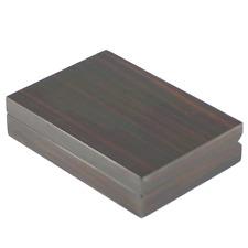 Ebony Finish Wooden Cufflink Case / Box- up to 20 Pairs - A- Grade (4091EB)