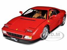 1989 FERRARI 348 TB RED ELITE EDITION 1/18 DIECAST MODEL CAR BY HOTWHEELS V7436