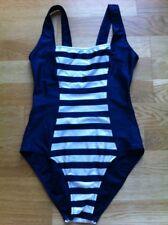 Botas de Disfraz de Natación Traje de Baño 14 paneles halagador Rayas Azules