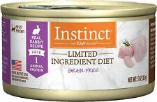 Instinct Limited Ingredient Diet RABBIT Wet Cat Food 24 x 3 oz cans HARD TO FIND