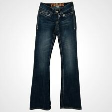 Hydraulic Lola Bootcut Women's Embellished Jeans Size 1/2 Flap Pockets *see note