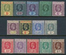 1922-1929 FIJI DEFINITIVES SET OF 14 MINT HINGED SG228-SG241 KING GEORGE V