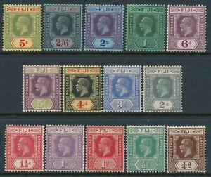 1922-1929 FIJI DEFINITIVES SET OF 14 MINT HINGED SG228-SG241 KING GEORGE V