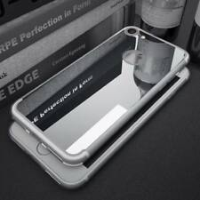 Aluminum Metal Mirror Case Soft Rubber Back Cover Skin For iPhone 8 6s 7 6 Plus
