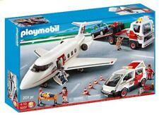 Playmobil 5207 - 4 Vehicle Set.  Airplane, Tow Truck, SUV and Road Service Van.