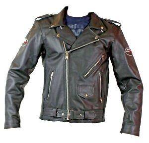 Motorradjake,Chopper ,Biker,Rocker,  Lederjacke,Schwarz,Gr.M/48,Neu