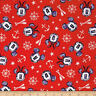 Disney Mickey And Minnie Nautical Aye Aye Red 100% Cotton Fabric by the Yard