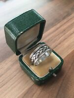 Lovely Marked Sterling Silver Size W 1/2  Woven Band Ring 6.22gr