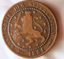 1881 NETHERLANDS CENT - Collectible Type - FREE SHIP - Netherlands Bin C