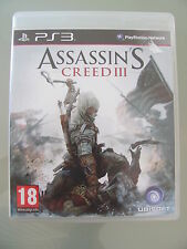 JEU PS3  @@ SONY @@ ASSASSIN'S CREED III @@ COMPLET @@ ETAT NEUF @@ PAL