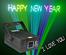 Write Your Own Text & Words Laser Light RGB Red Blue Green disco party karaoke