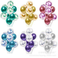 Supplies Party Decor Wedding Latex Birthday Balloons Set Foil Confetti Balloon
