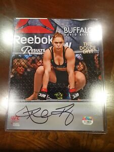 "Ronda Rousey Ultimate Fighting Championship Autographed 8"" x 10"" Kneeling In..."