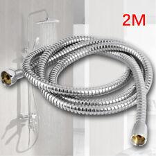 2m Stainless Shower Hose Flexible Tube Kit For Bathroom Showerhead High Quality