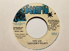 "Gregory Isaacs ""You Lie"" and ""You Lie Version"" 1991 Black Scorpio Records Reggae"